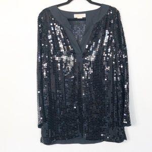 Michael Kors Black Sequin Tunic Size Medium